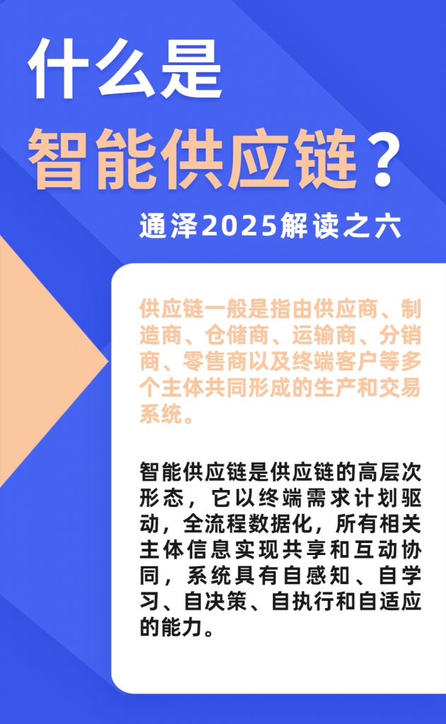 什么是智能供应链?——通泽2025解读之六