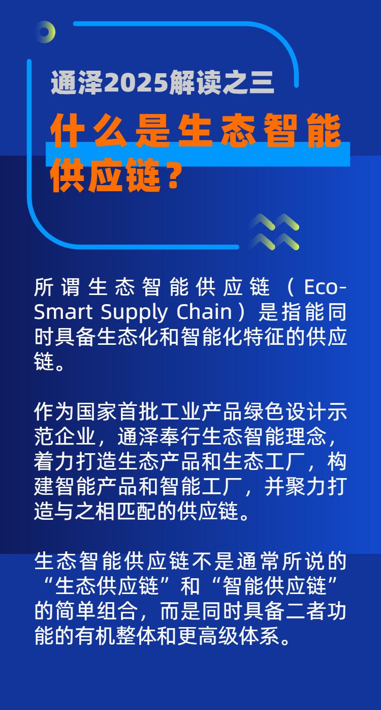 什么是生态智能供应链? ——通泽2025解读之三
